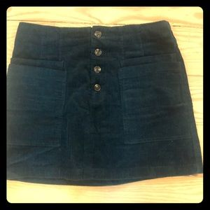 Corduroy mini skirt with buttons
